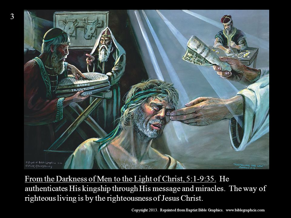 From the Darkness of Men to the Light of Christ, 5:1-9:35.