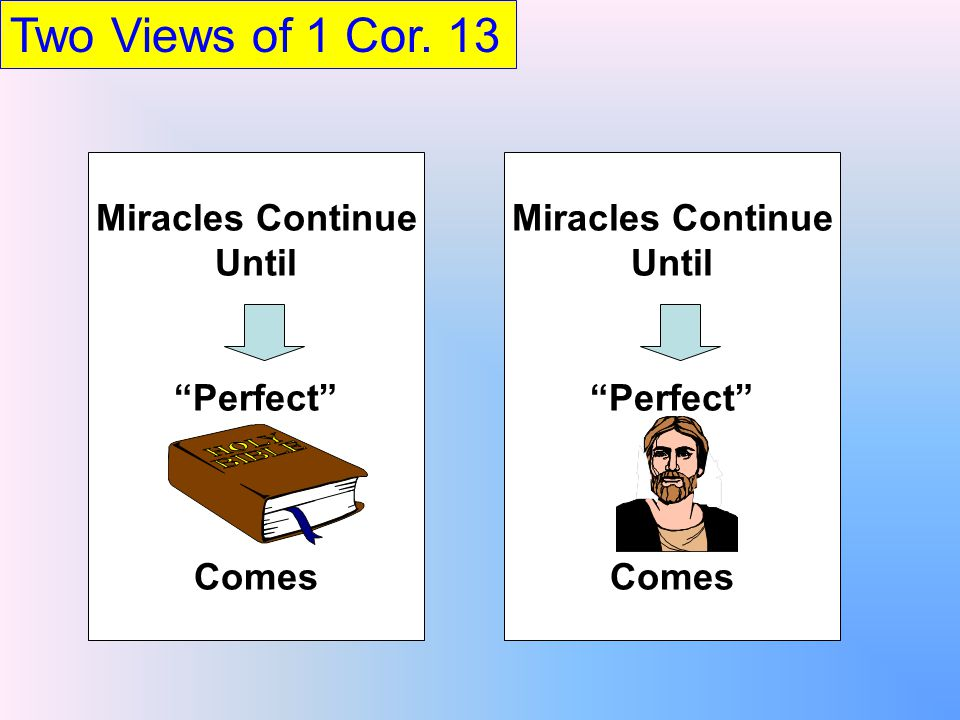 Two Views of 1 Cor.