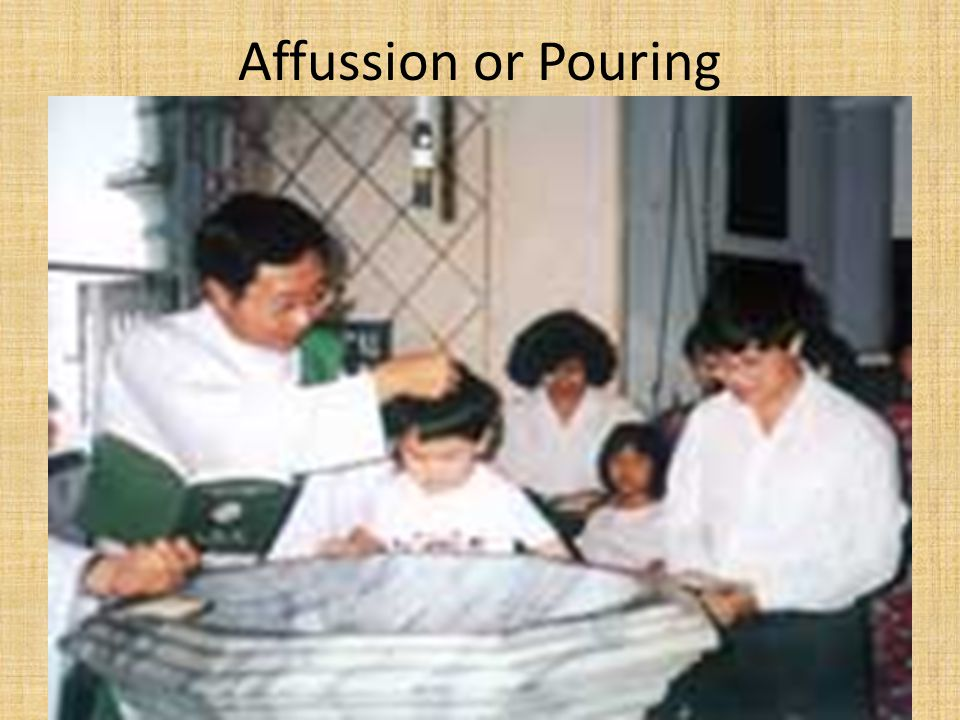 Affussion or Pouring