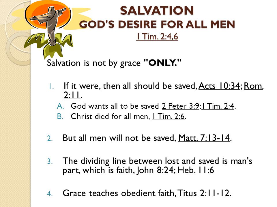 Salvation is not by grace