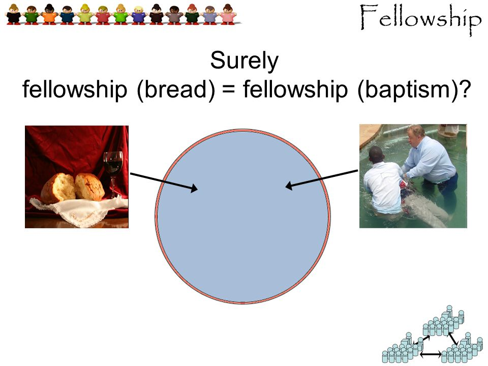 Fellowship Surely fellowship (bread) = fellowship (baptism)