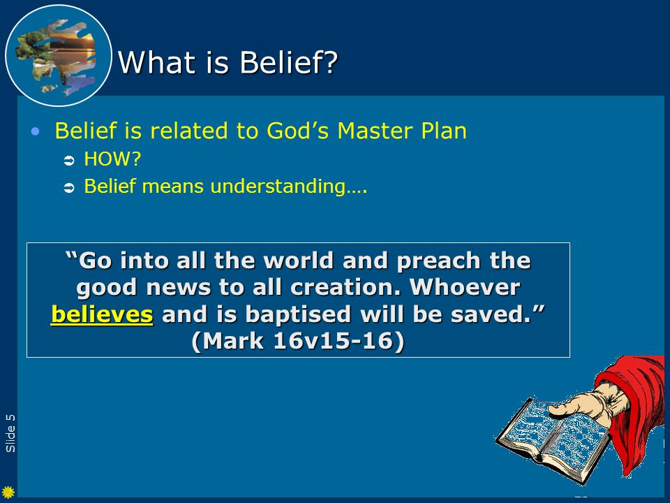 Slide 16 Why be Baptised.It is a commandment.