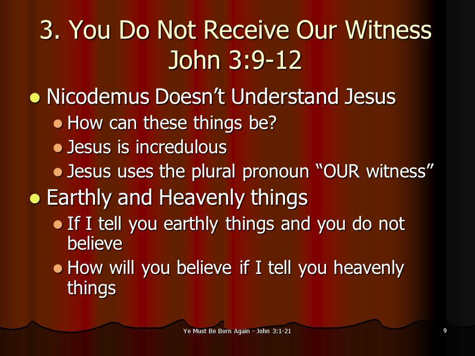 Ye Must Be Born Again - John 3:1-21 10 Who Was Nicodemus.