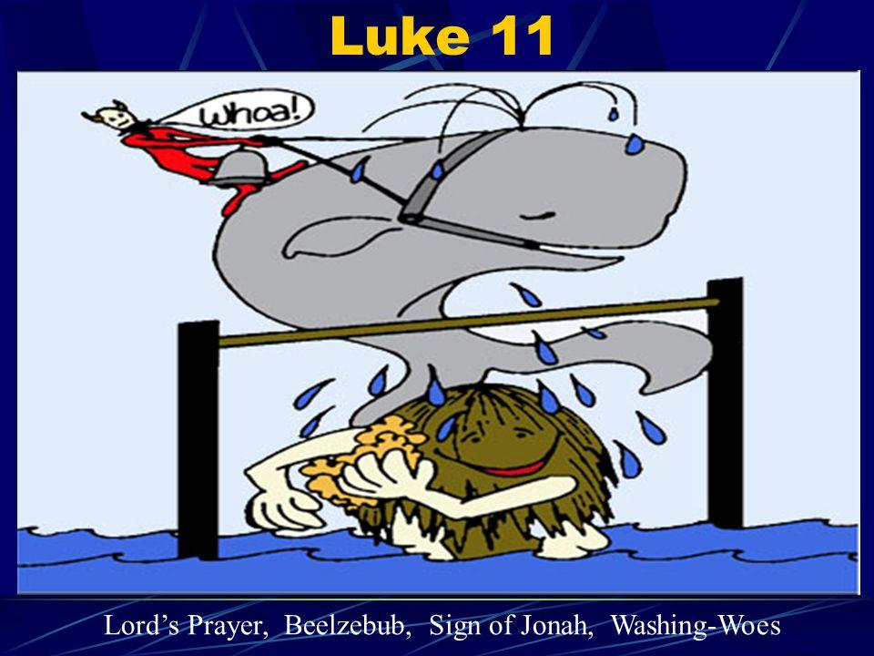 Luke 11 Lord's Prayer, Beelzebub, Sign of Jonah, Washing-Woes