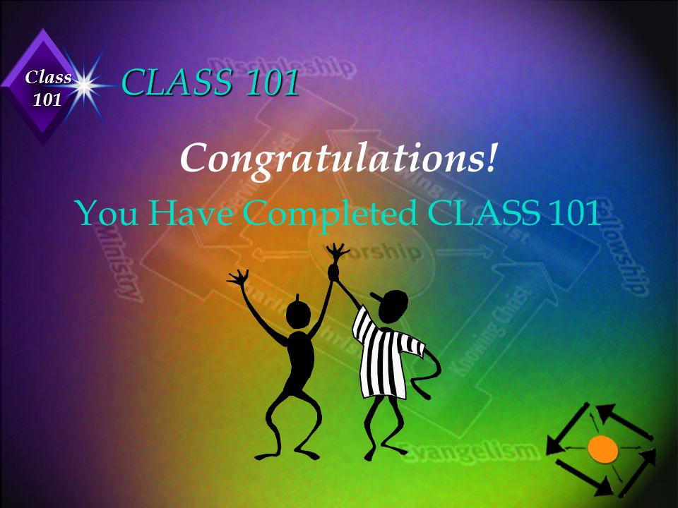 Class 101 CLASS 101 Congratulations! You Have Completed CLASS 101