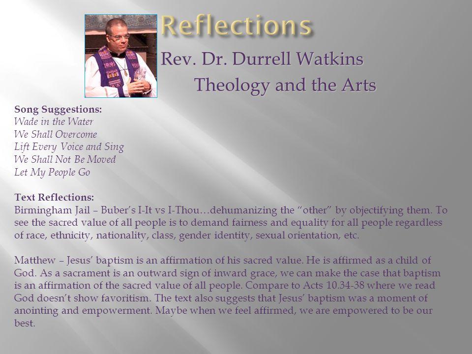 Rev. Dr. Durrell Watkins Rev. Dr.
