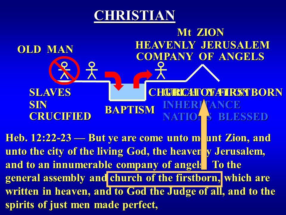 BAPTISM OLD MAN CHRISTIAN NATIONS BLESSED INHERITANCE Heb.