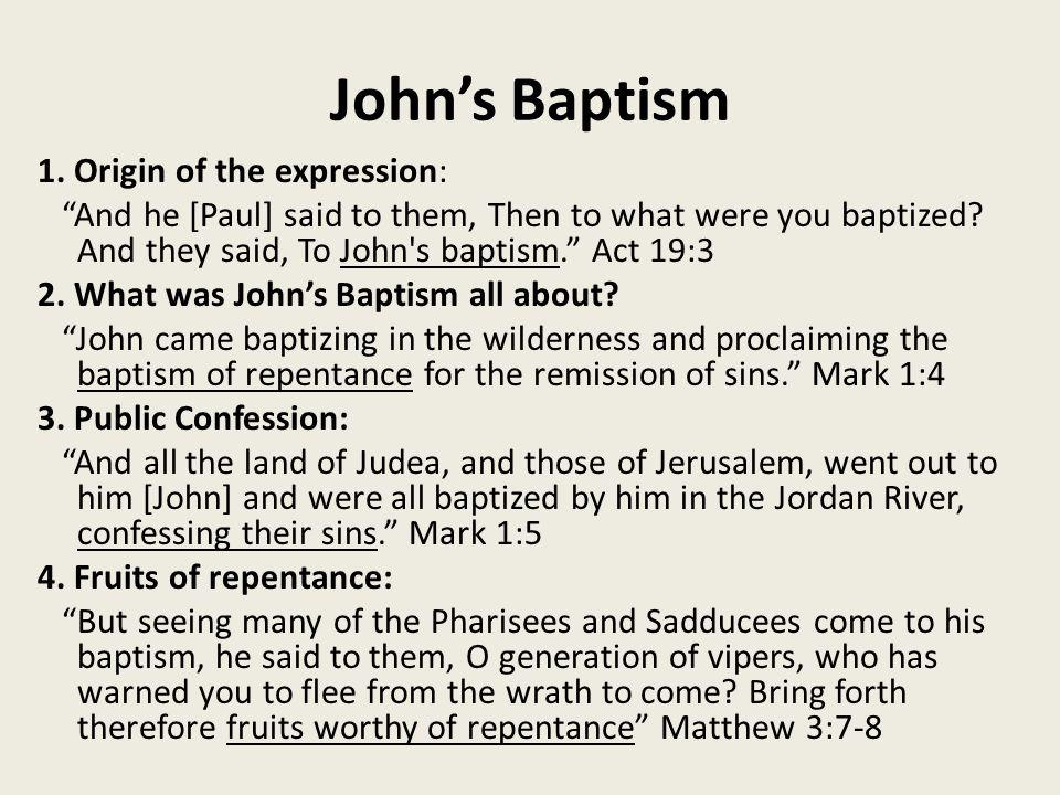 John's Baptism 1.