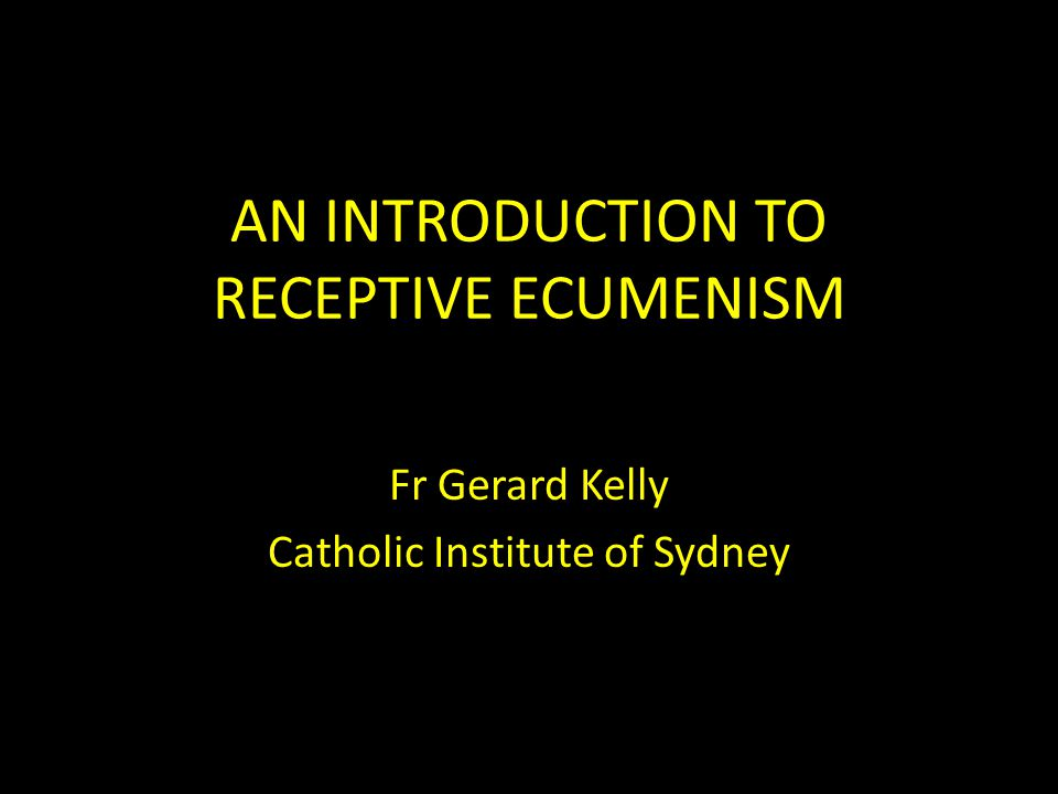 Reception and ecclesial learning Be aware of theological and non-theological factors that prevent ecclesial leaning Ladislas Orsy's criteria for authentic reception: 1.Identity and its preservation 2.Truth and falsity 3.Prudent judgement Become a creative agent: a church develops the inspiration it received all over again, out of its own resources