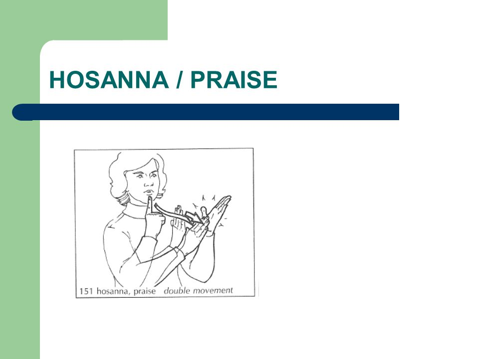 HOSANNA / PRAISE