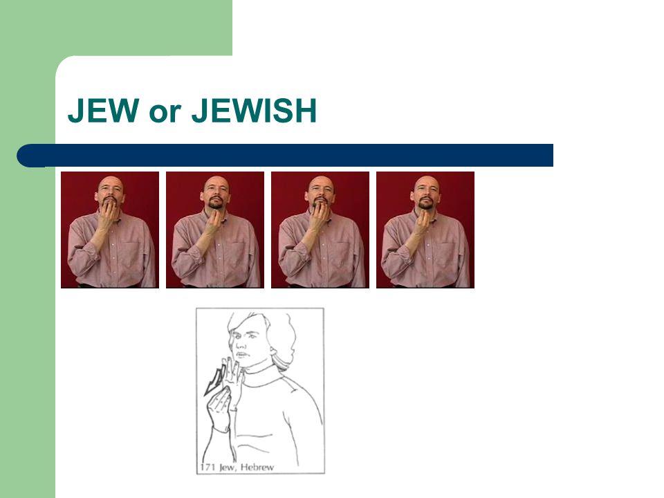 JEW or JEWISH