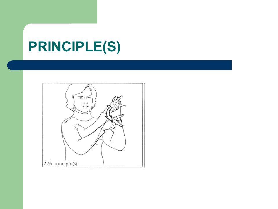 PRINCIPLE(S)