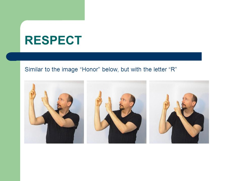 "RESPECT Similar to the image ""Honor"" below, but with the letter ""R"""