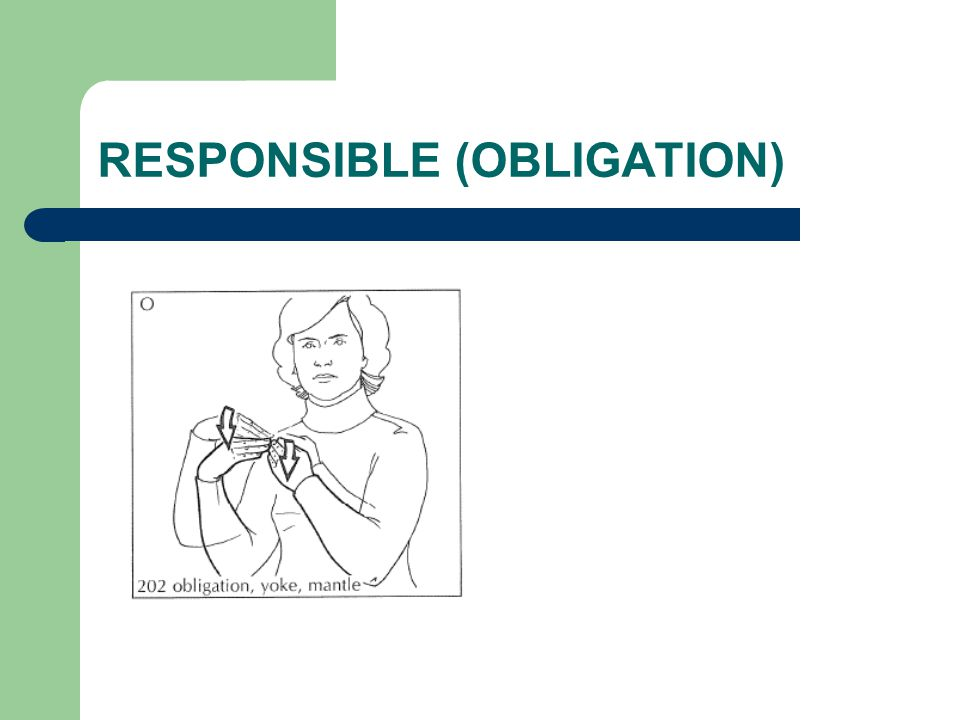 RESPONSIBLE (OBLIGATION)