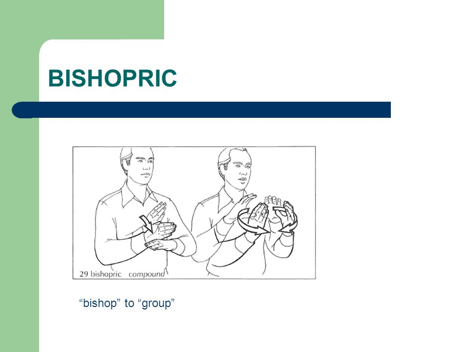 "BISHOPRIC ""bishop"" to ""group"""