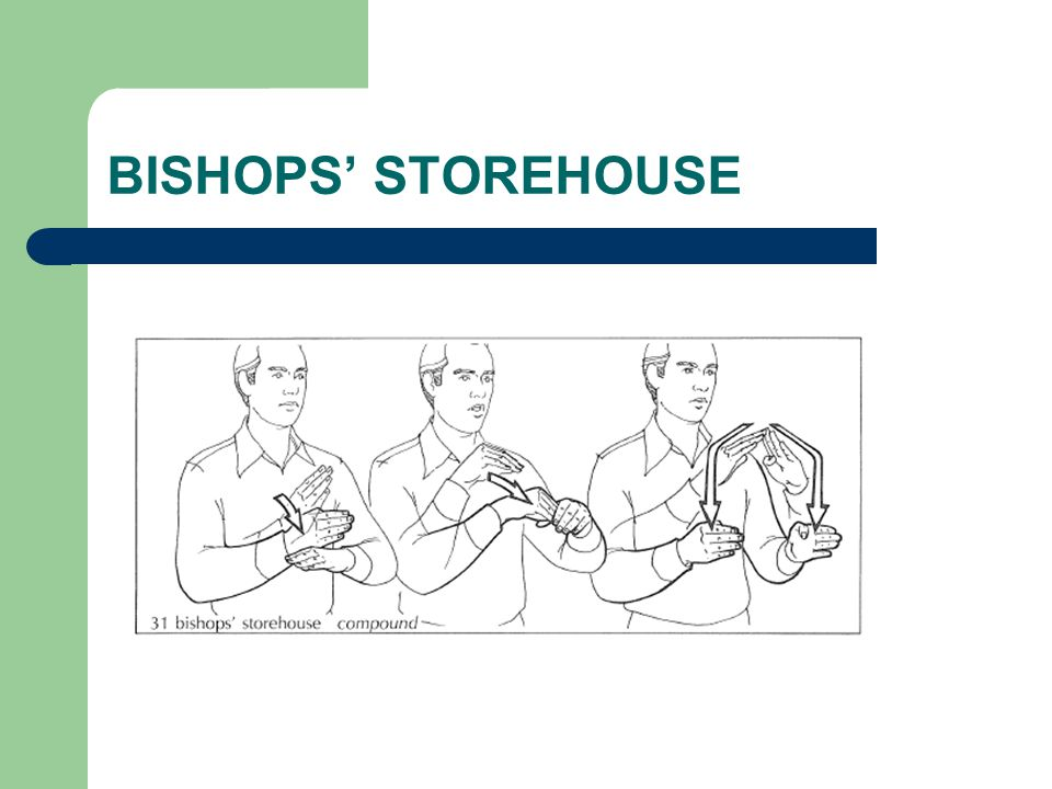 BISHOPS' STOREHOUSE