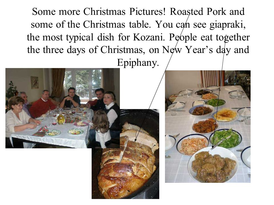 Some more Christmas Pictures. Roasted Pork and some of the Christmas table.