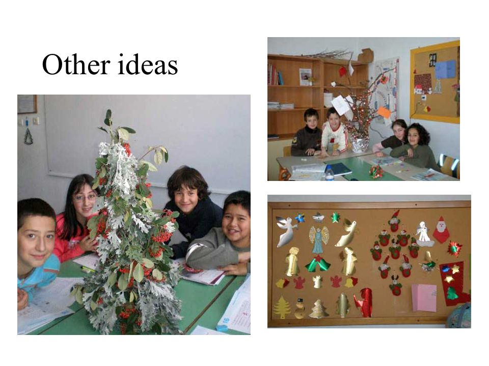 This tree needs branches cotton and sponges in silver or bronze. You put candles in it!!