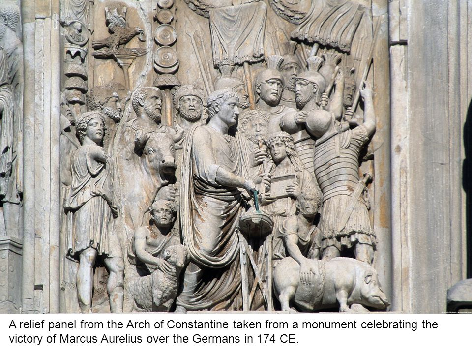 A relief panel from the Arch of Constantine.