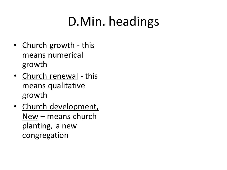 D.Min.headings No 680 scope note for Group Ministry.