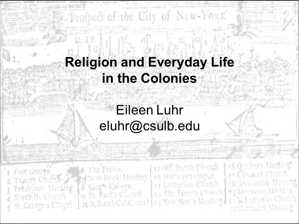 Focus question for today: How do historians study daily life and social relations in the colonies.