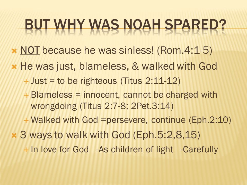  NOT because he was sinless.