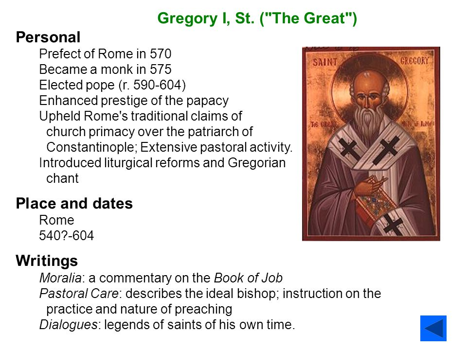 Gregory I, St. (