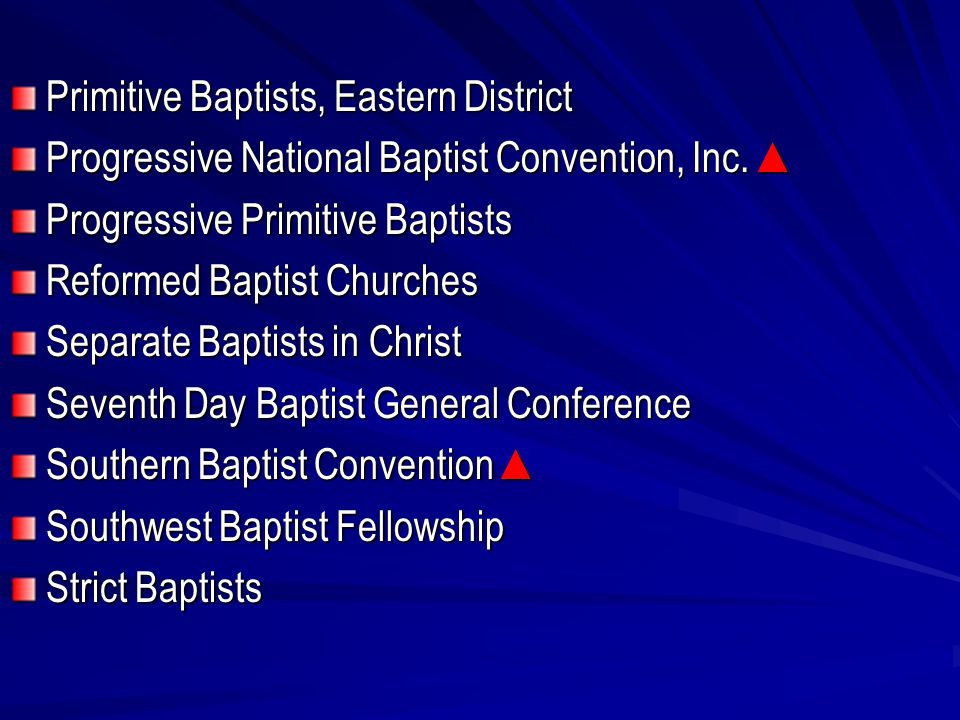 Primitive Baptists, Eastern District Progressive National Baptist Convention, Inc.