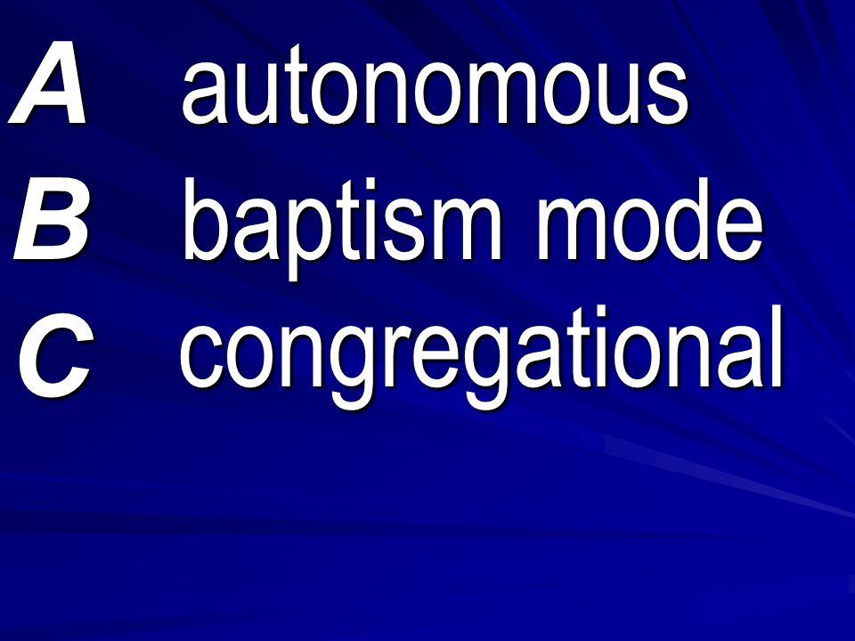 congregational congregational