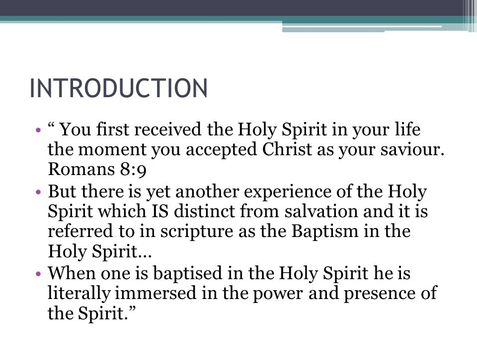 PURPOSE Basically, this experience is for power that we might be witnesses of Christ both in word and deed.
