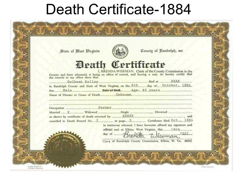 Death Certificate-1884