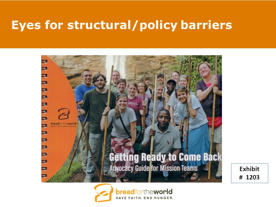 Eyes for structural/policy barriers Exhibit # 1203