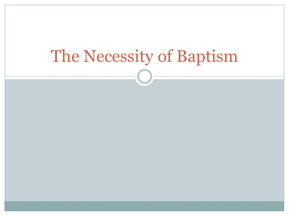 But, what about….A man in a car accident on the way to his Baptism.