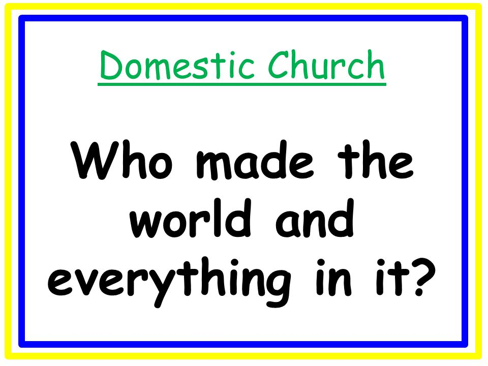Domestic Church What makes a house a home?