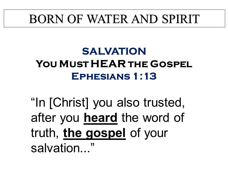 Salvation What Is the Kingdom of God's dear Son.