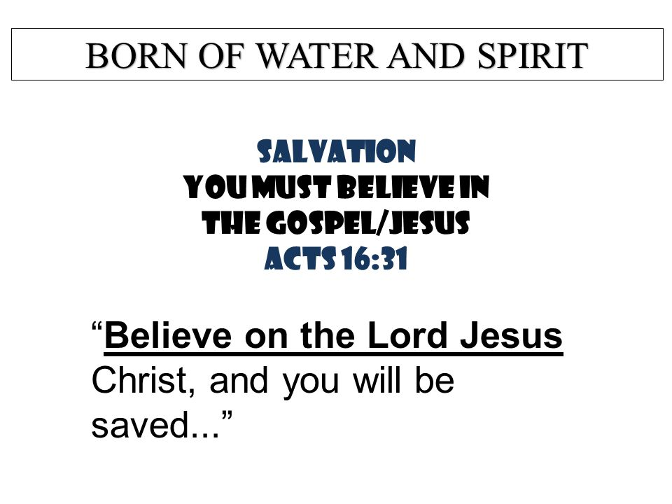 SALVATION… Is NOT by BELIEF ONLY.