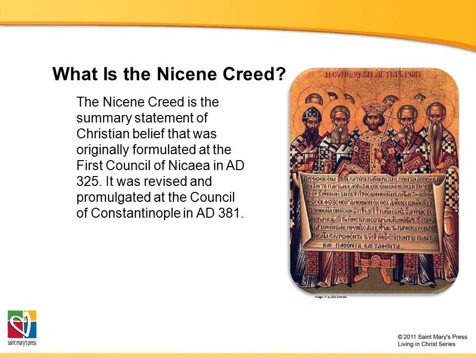 The Trinity: Unpacking the Nicene Creed The Nicene Creed is an expression of the Trinity, an expression of faith.