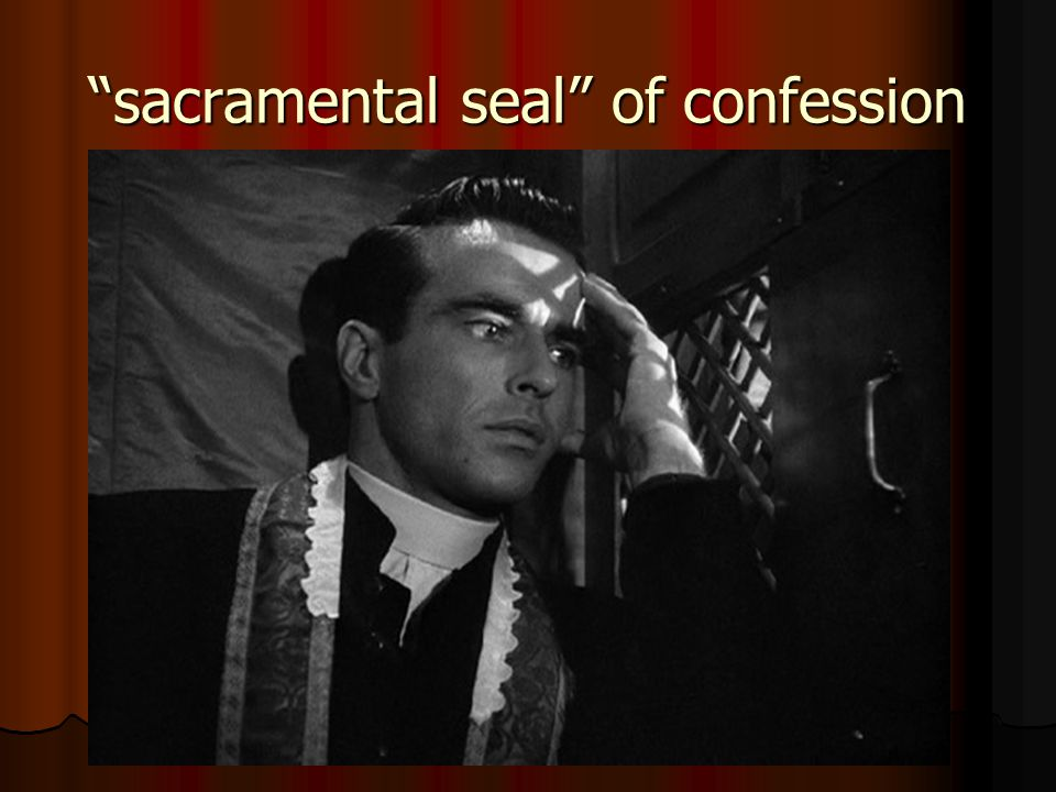 sacramental seal of confession