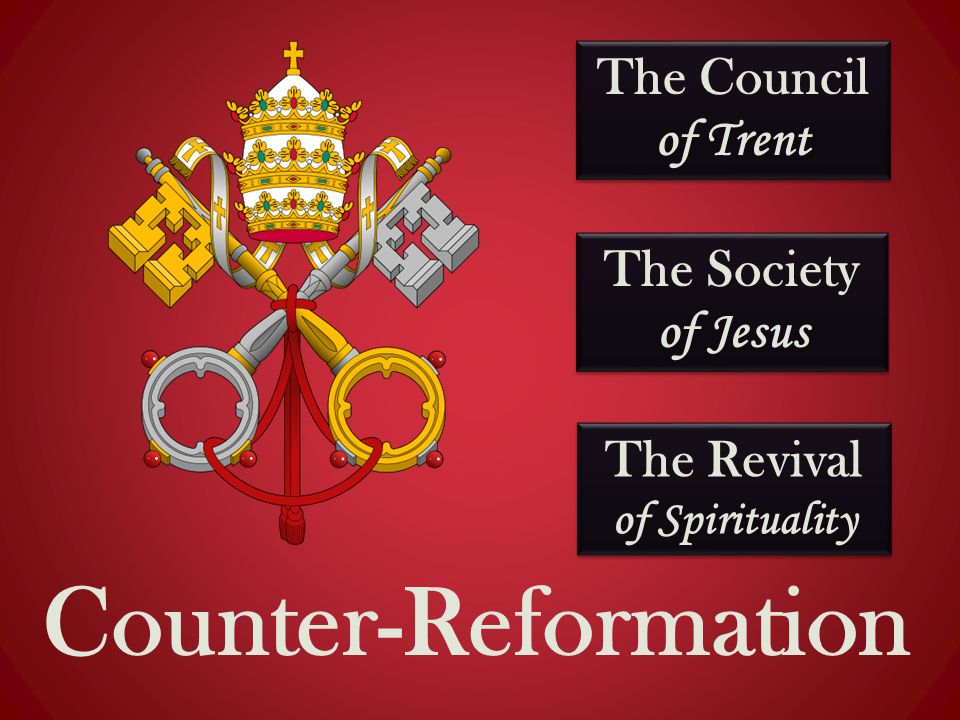 The Council of Trent Counter-Reformation The Society of Jesus The Revival of Spirituality