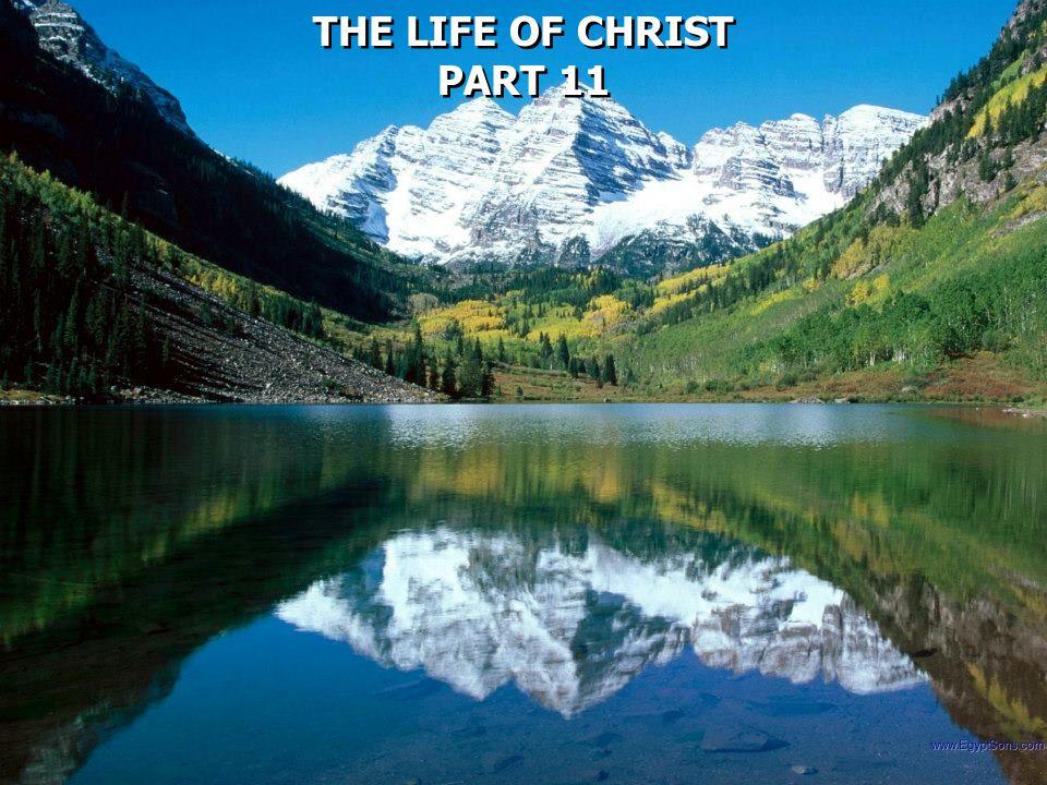 THE LIFE OF CHRIST PART 11 THE LIFE OF CHRIST PART 11
