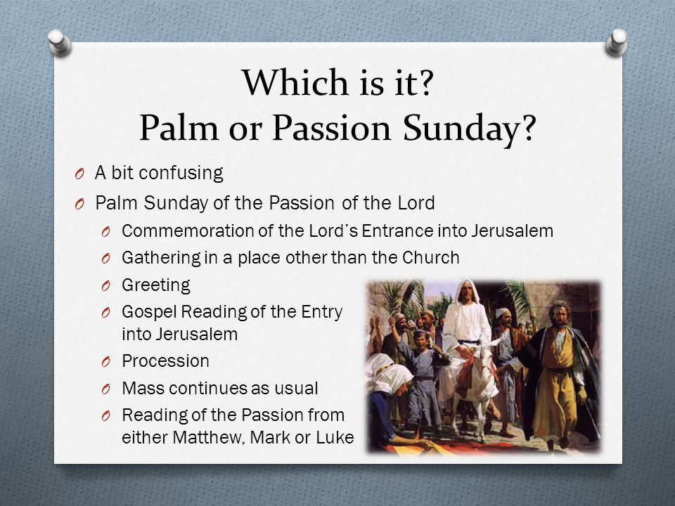 O Monday, Tuesday and Wednesday of Holy Week O Follows a sequential reading of St.