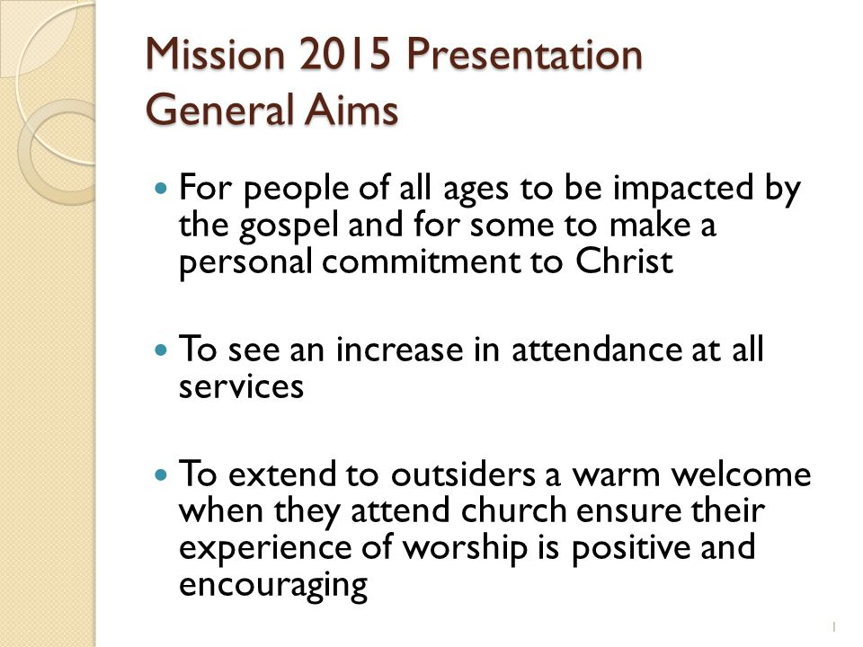 2015 Mission Presentation Children Action Plan Actions Two meetings to be arranged per term for Team fellowship and training External training opportunities are researched and leaders and volunteers informed and encouraged to attend.