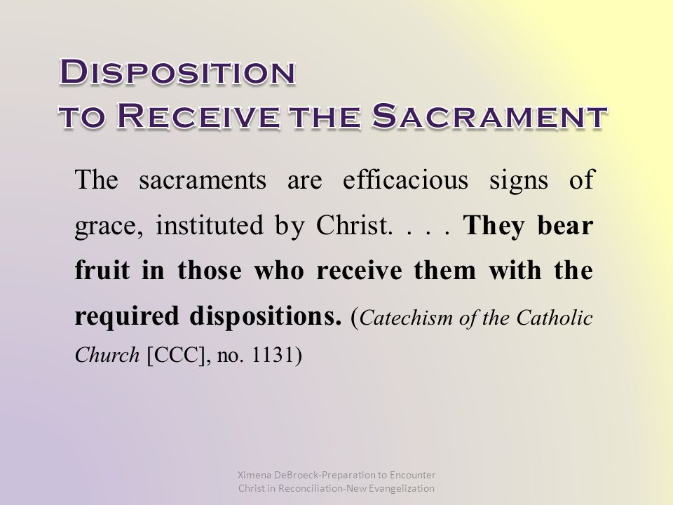 The sacraments are efficacious signs of grace, instituted by Christ....