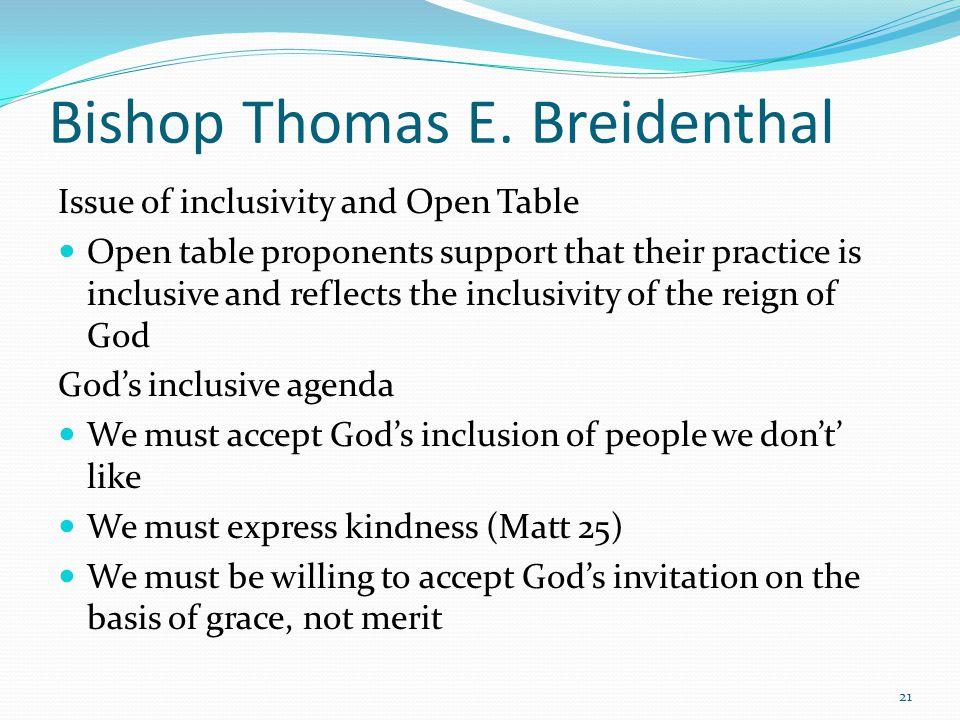 Bishop Thomas E.