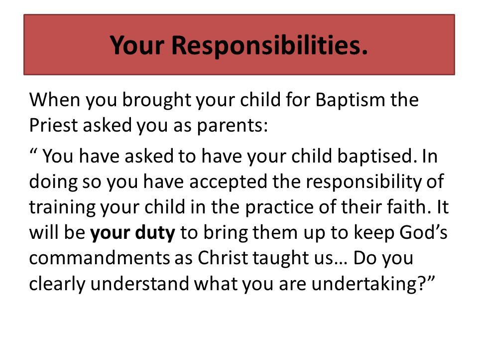 Your Responsibilities.