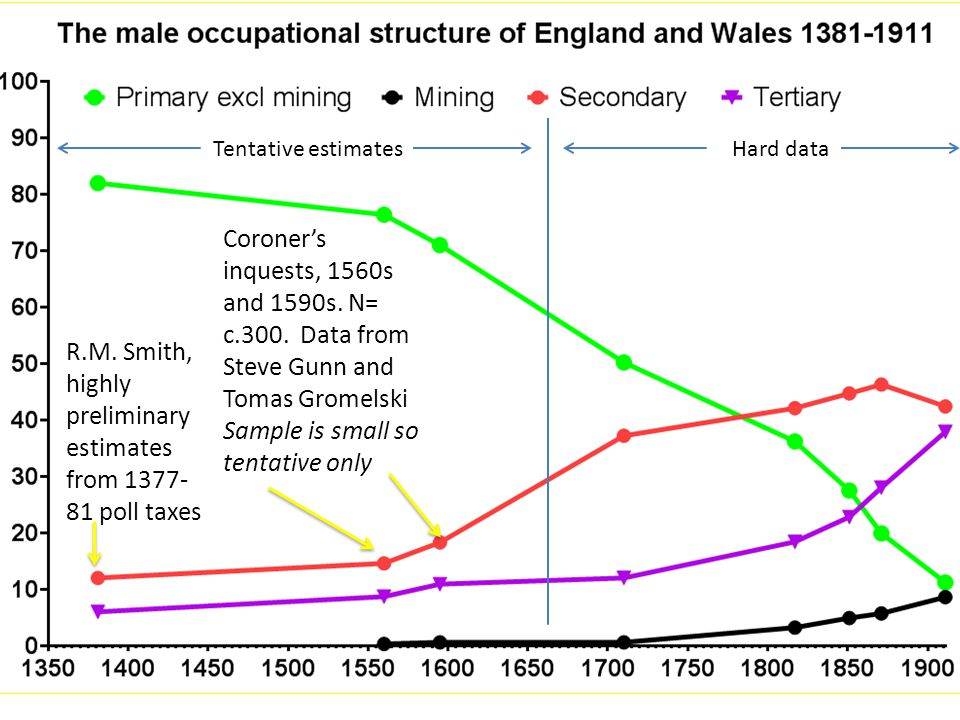 Coroner's inquests, 1560s and 1590s. N= c.300.