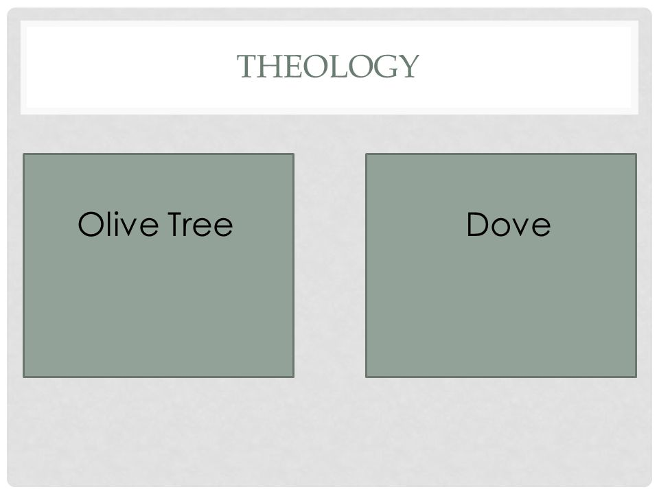 THEOLOGY Olive TreeDove