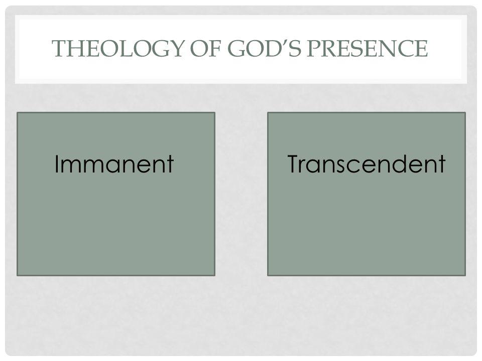 THEOLOGY OF GOD'S PRESENCE ImmanentTranscendent