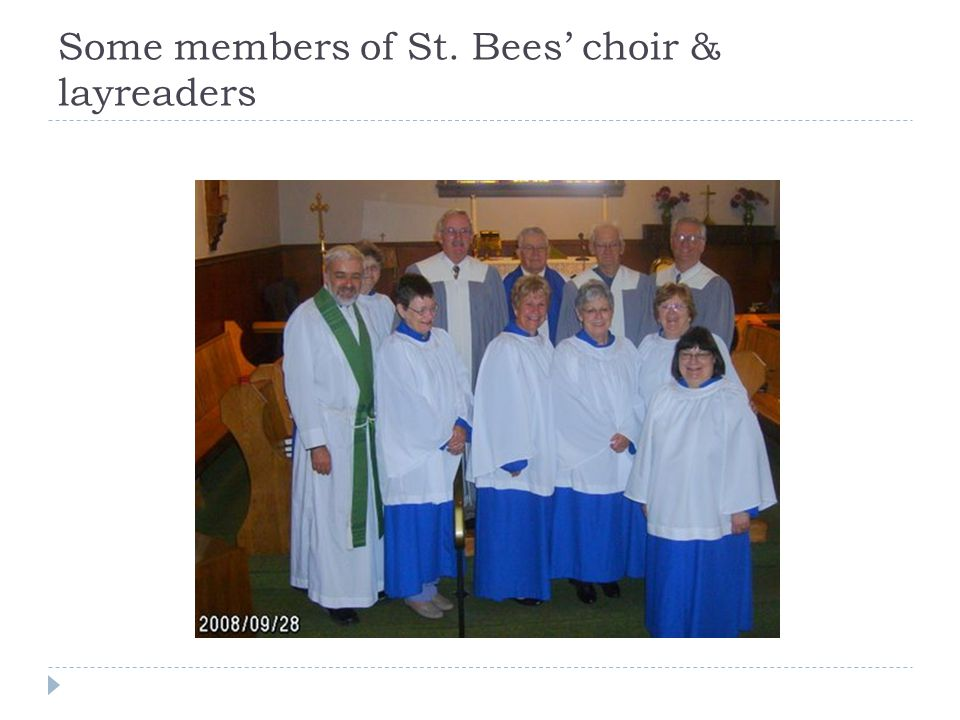 Some members of St. Bees' choir & layreaders