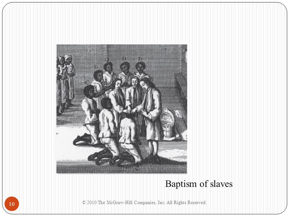 10 Baptism of slaves